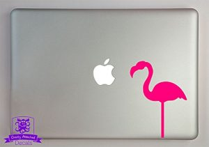 pink flamingo laptop decal
