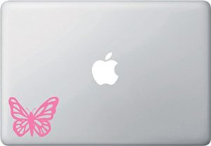 pink laptop sticker