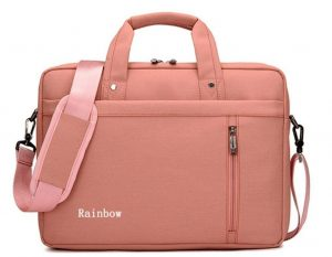 snow wi pink laptop bag