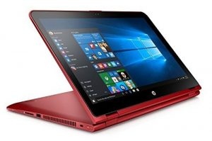 red hp laptop