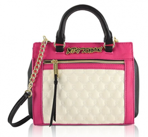betsey johnson quilted small satchel