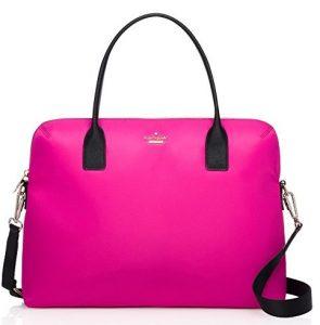 kate spade ny pink nylon daveney laptop bag