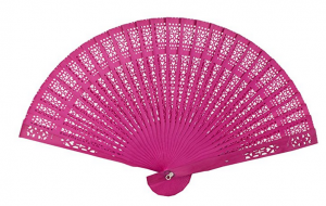 pink bamboo hand fan gift