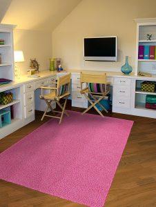 pink bedroom rug