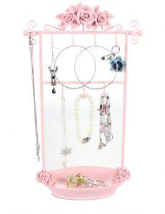 pink jewelry holder