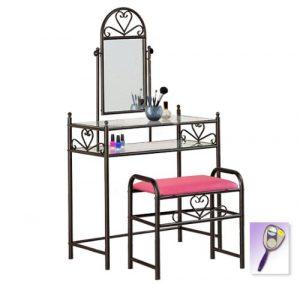 pink vanity table