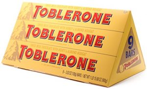 toblerone swiss milk chocolate almond noguat