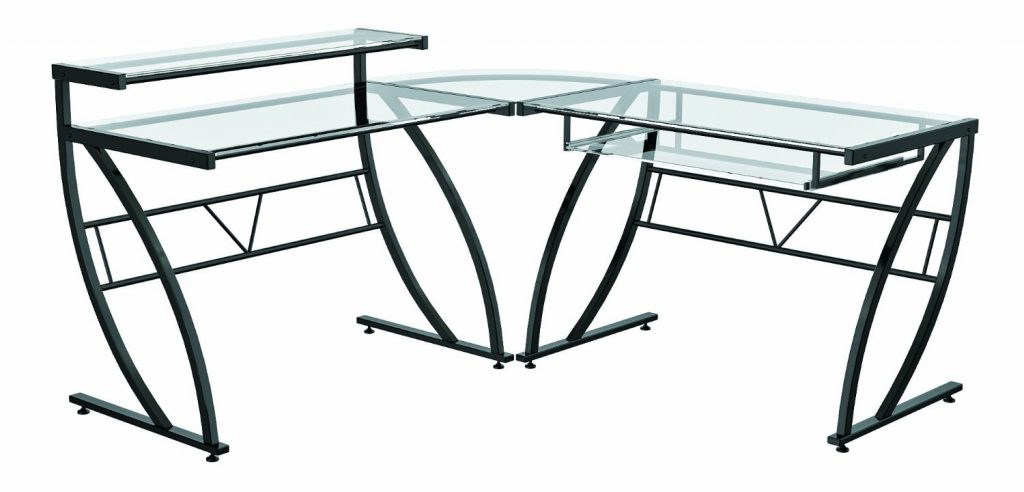 z line designs glass l shape desk