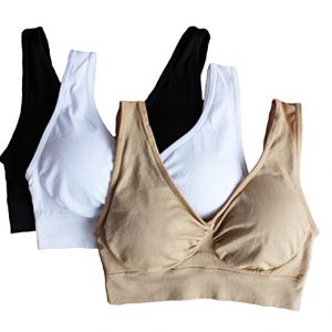 758000dbf0ef9 Cabales Seamless Wireless Sports Bra with Removable Pads (Link)