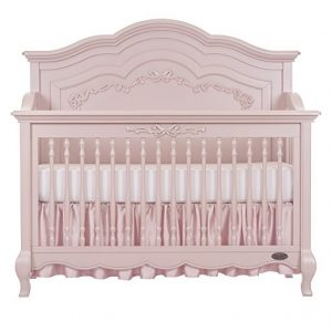 convertible crib in pink pearl