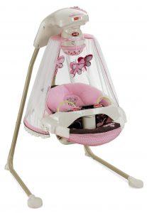 papasan cradle swing mocha butterfly