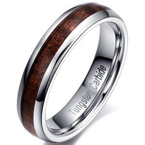 vintage tungsten carbide wooden ring