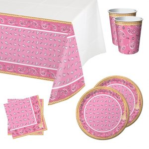 Classy pink party tableware
