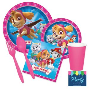 Kids pink tableware party