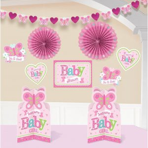 Pink baby shower decoration kit