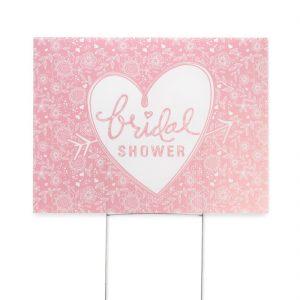 Pink bridal shower sign
