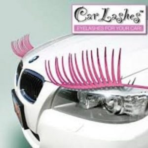 Pink car eyelashes