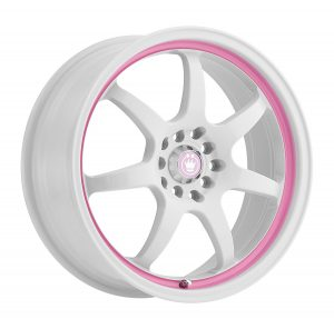 Pink car rims
