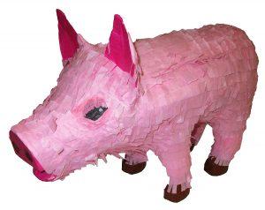 Pink pinatas