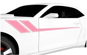 Pink racing stripe decals