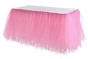 Pink table skirt