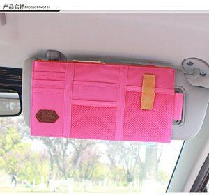 Pink visor storage