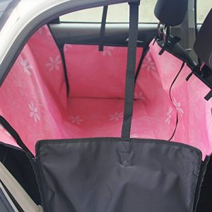 Pink waterproof seat cover for dogs