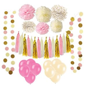 Pink wedding party decoration kit