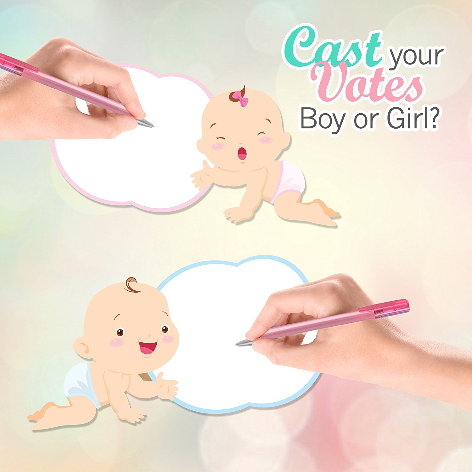 Gender reveal decorations and ideas