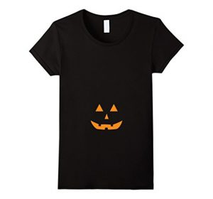 Jack O' lantern pumpkin halloween maternity tee-shirt