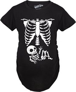 Maternity skeleton baby t shirt