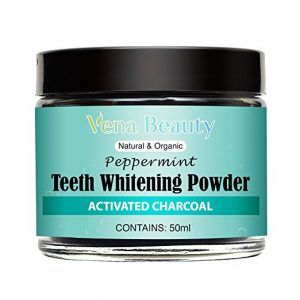 Natural teeth whitening powder made with organic bamboo activated charcoal