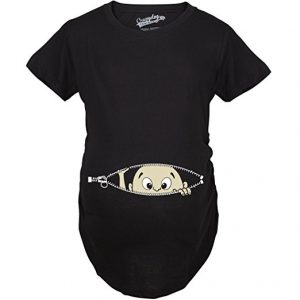 Peeking baby funny pregnancy shirt