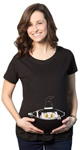 Peeking witch maternity halloween tee