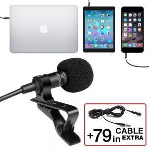 PowerDeWise lavalier lapel microphone