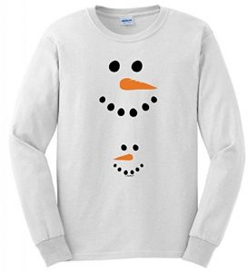 Pregnant snowman belly long sleeved shirt