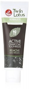 Twin lotus active charcoal toothpaste herbaliste