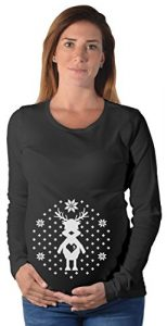 Ugly christmas sweater xmas pregnancy maternity long sleeve shirt