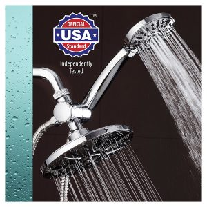 Aquadance 7 premium dual shower head