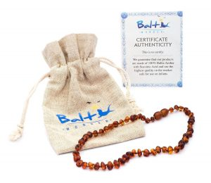Balthis wonder baltic amber teething necklace for babies