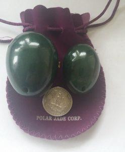 Polar jade nephrite jade egg kegel weight