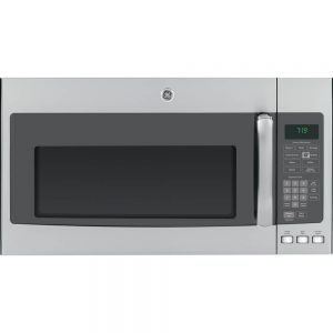 GE over-the-range microwave oven in stainless steel