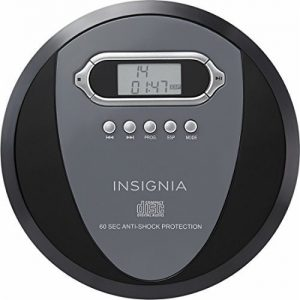 Insignia portable CD player with skip protection