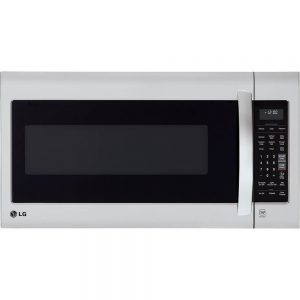 LG over-the-range microwave oven in stainless steel