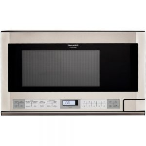 Sharp 1100-watt over-the-counter microwave in stainless steel