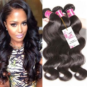 UNice brazilian virgin human hair weave extensions